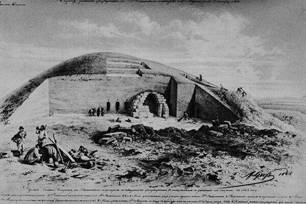 Раскопки кургана Большая Близница. 1864.