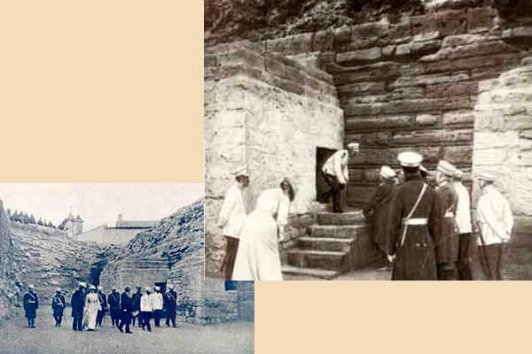 Посещение Императором Николаем II раскопок в Херсонесе. 1902.