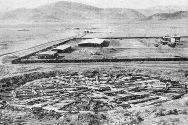 Раскопки кургана Аржан-1 М.П. Грязновым