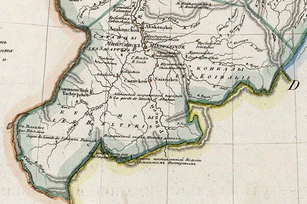 Фрагмент карты XIX века