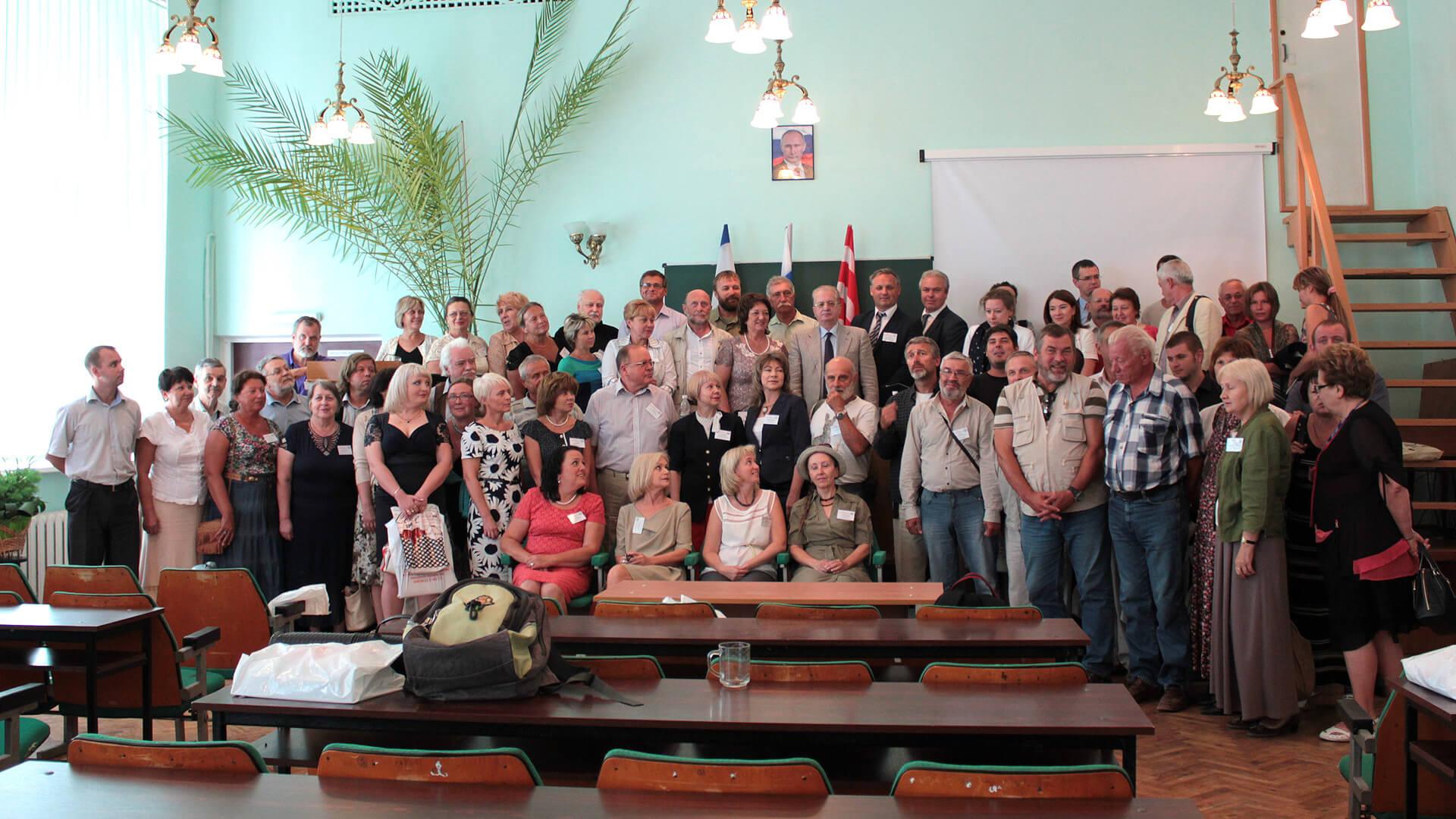 Участники конференции с директором и сотрудниками Государственного Эрмитажа