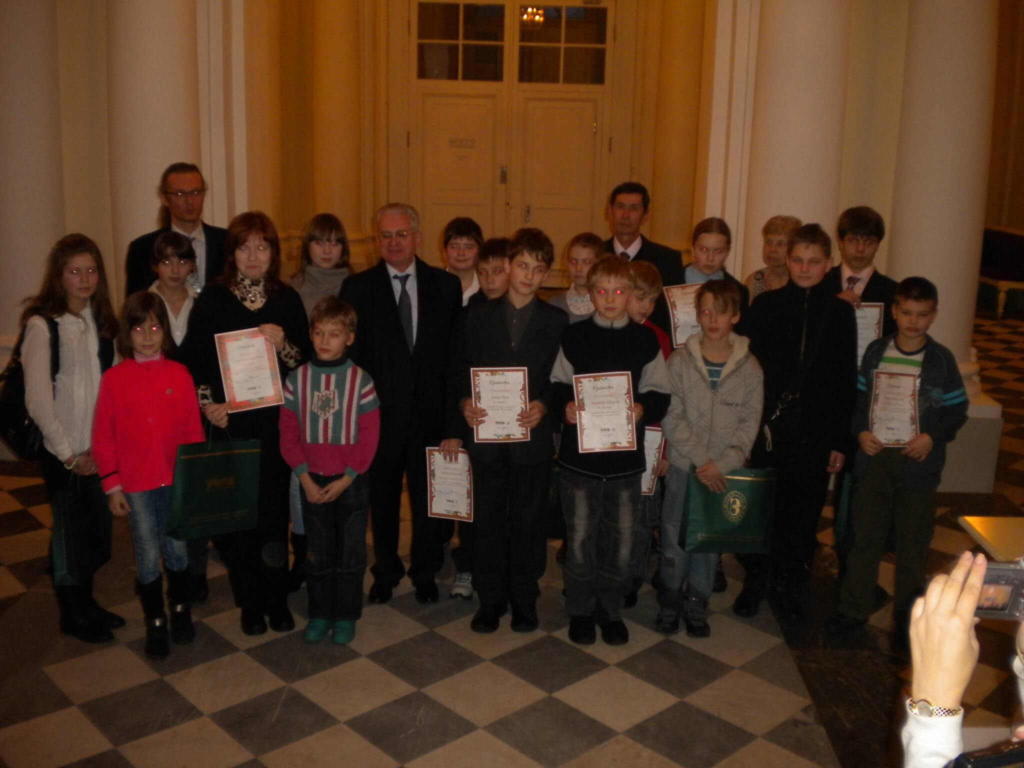 Участники конкурса компьютерной графики с М.Б.Пиотровским