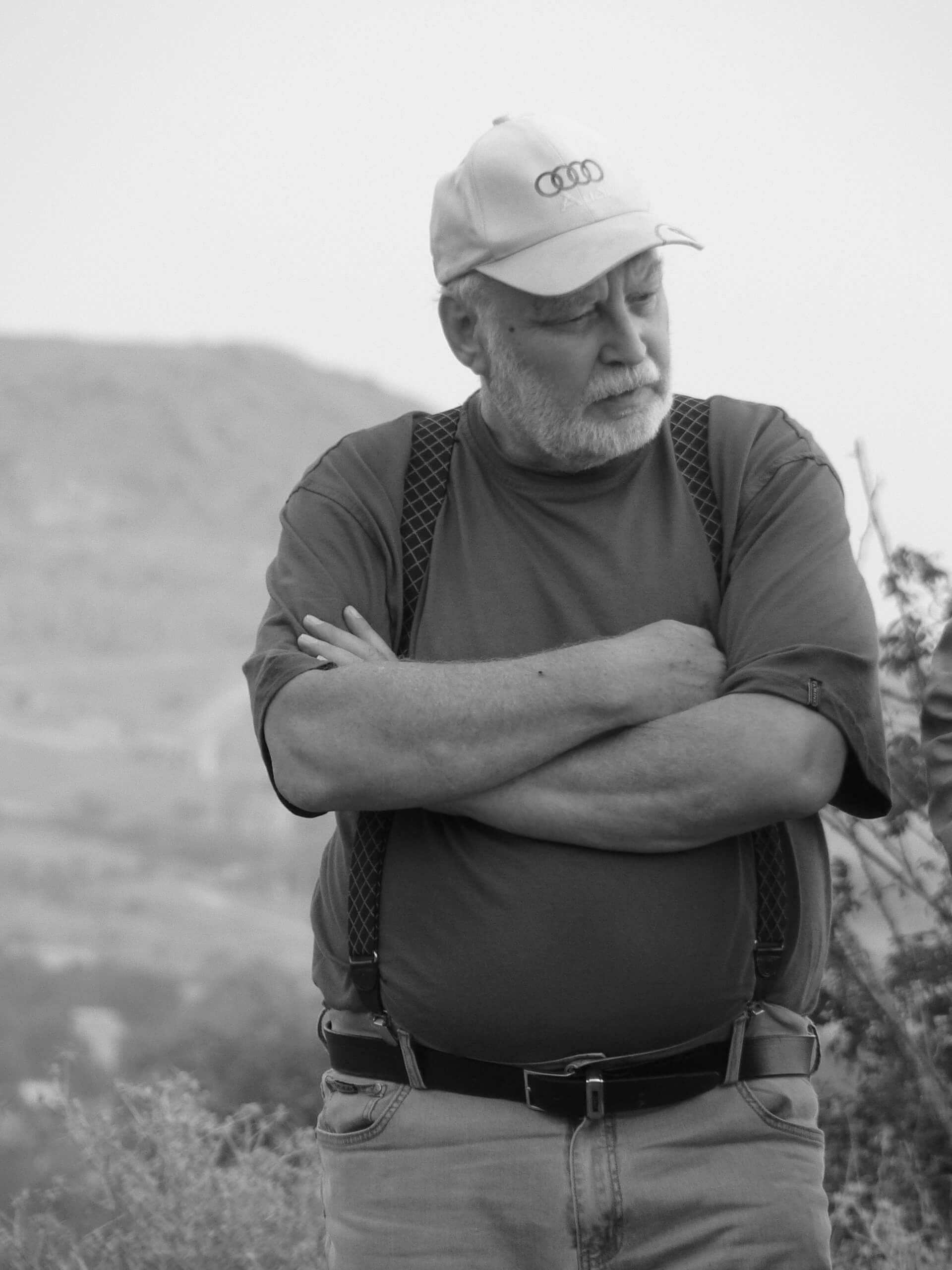 М.Г.Крамаровский на раскопках. 2015(?)